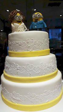 Τούρτα γάμου Minions