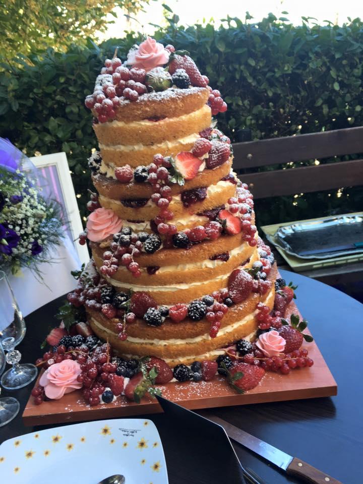 Τούρτα γάμου Naked Cake